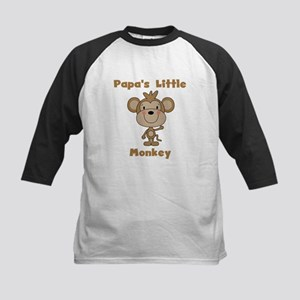 Papa's Little Monkey Kids Baseball Jersey
