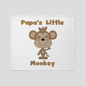 Papa's Little Monkey Throw Blanket