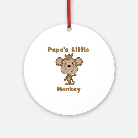 Papa's Little Monkey Ornament (Round)