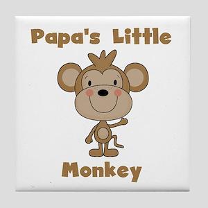 Papa's Little Monkey Tile Coaster