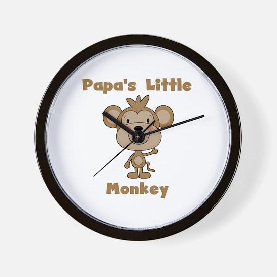 Papa's Little Monkey Wall Clock