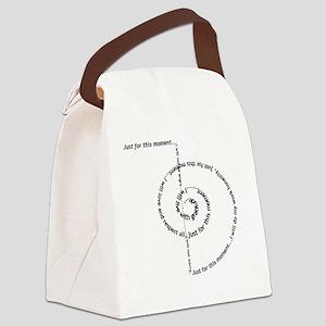 spiral_black Canvas Lunch Bag