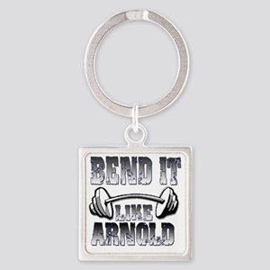 Bend it  Square Keychain