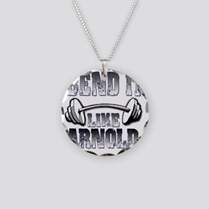 Bend it  Necklace Circle Charm