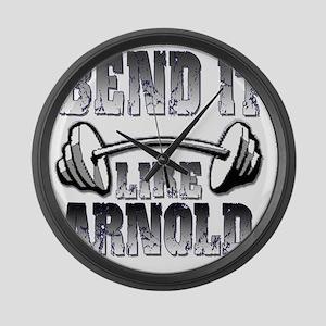 Bend it  Large Wall Clock