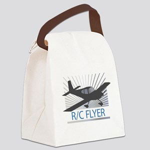 RC Flyer Low Wing Airplane Canvas Lunch Bag
