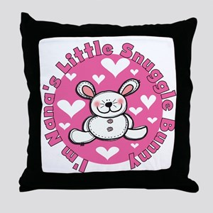 Nana's Snuggle Bunny Throw Pillow
