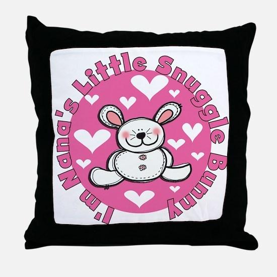 Nana's Snuggle Bunny Throw Pillow