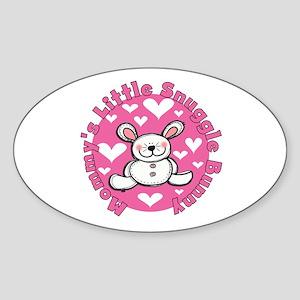 Mommy's Snuggle Bunny Sticker (Oval)