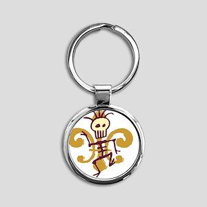 DatBonesFleurtra Round Keychain