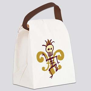 DatBonesFleurtra Canvas Lunch Bag