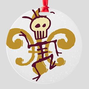 DatBonesFleurtra Round Ornament