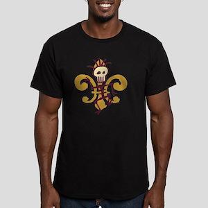 DatBonesFleurtra Men's Fitted T-Shirt (dark)