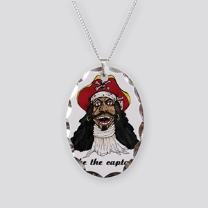 I be Captain Morgan copy Necklace Oval Charm