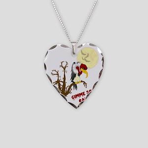 BuzzardHallowshirt_Light1 Necklace Heart Charm