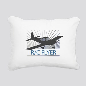 RC Flyer Low Wing Airplane Rectangular Canvas Pill