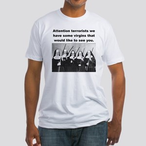 NUNS WITH GUNS Fitted T-Shirt