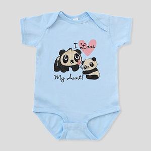 Pandas I Love My Aunt Infant Bodysuit