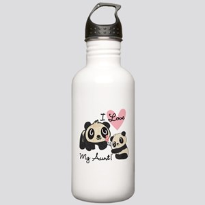 Pandas I Love My Aunt Stainless Water Bottle 1.0L