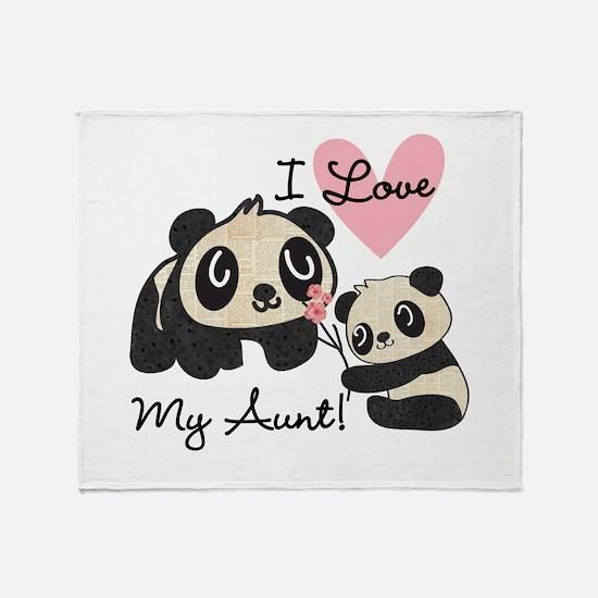 Pandas I Love My Aunt Throw Blanket