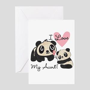 Pandas I Love My Aunt Greeting Card
