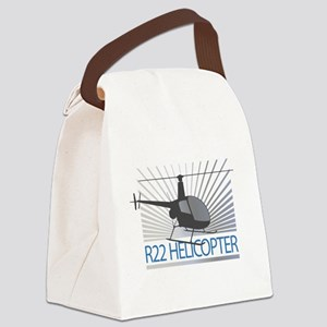 Aircraft R22 Helicopter Canvas Lunch Bag