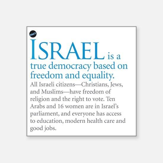 "Israel_fact Square Sticker 3"" x 3"""