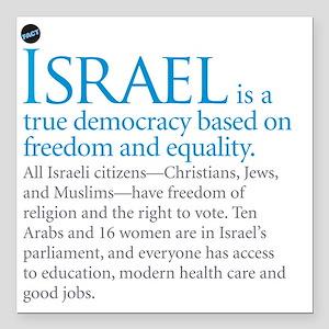 "Israel_fact Square Car Magnet 3"" x 3"""