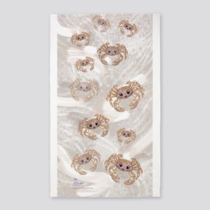 ghost crabs beach towel 3'x5' Area Rug
