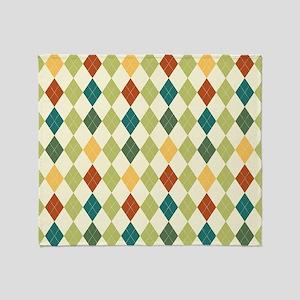 Paxton Argyle Pattern Throw Blanket