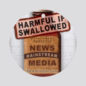 Harmful If Swallowed Round Ornament