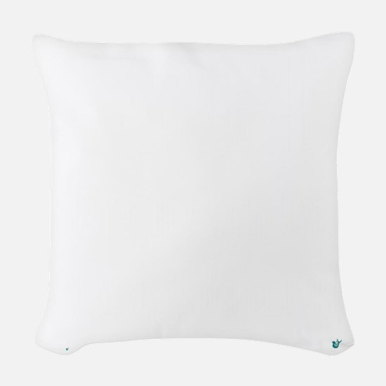 10x10whnotrespassingsmssjrcp Woven Throw Pillow