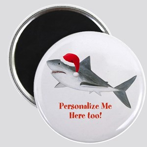 Personalized Christmas Shark Magnet