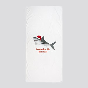 Personalized Christmas Shark Beach Towel