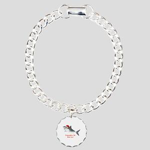 Personalized Christmas Shark Charm Bracelet, One C