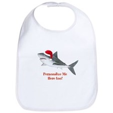 Personalized Christmas Shark Bib