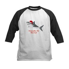 Personalized Christmas Shark Kids Baseball Jersey
