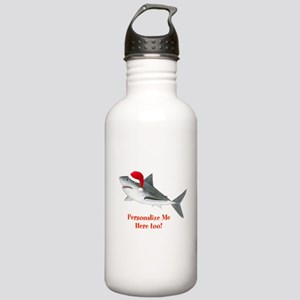 Personalized Christmas Shark Stainless Water Bottl
