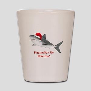 Personalized Christmas Shark Shot Glass