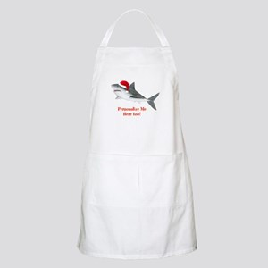 Personalized Christmas Shark Apron