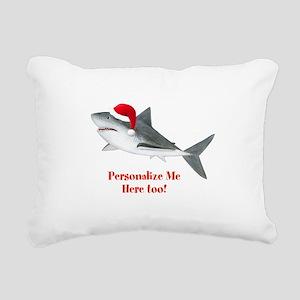Personalized Christmas Shark Rectangular Canvas Pi