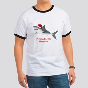 Personalized Christmas Shark Ringer T