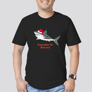 Personalized Christmas Shark Men's Fitted T-Shirt