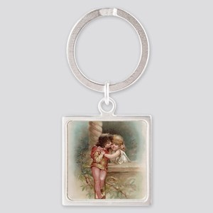 Romeo and Juliet Square Keychain