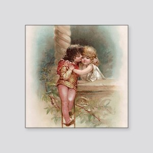 "Romeo and Juliet Square Sticker 3"" x 3"""