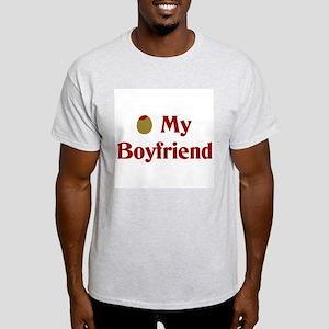 Olive My Boyfriend Ash Grey T-Shirt
