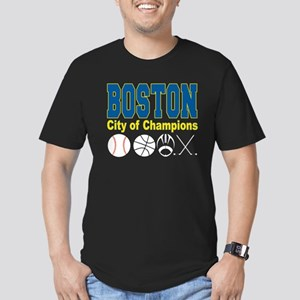 Boston City of Champions Men's Fitted T-Shirt (dar