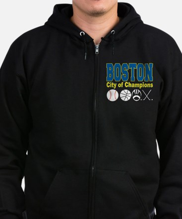 Boston City of Champions Zip Hoodie (dark)