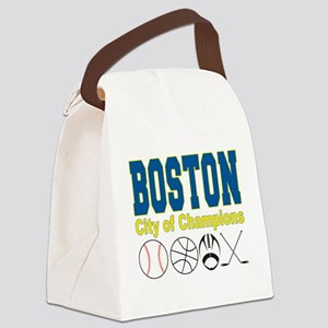 Boston City of Champions Canvas Lunch Bag