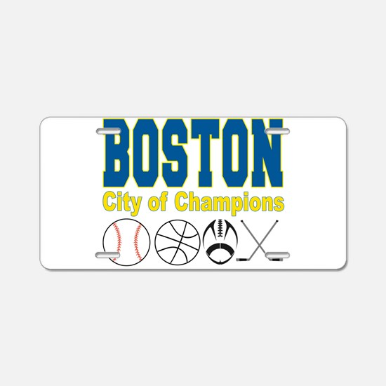 Boston City of Champions Aluminum License Plate